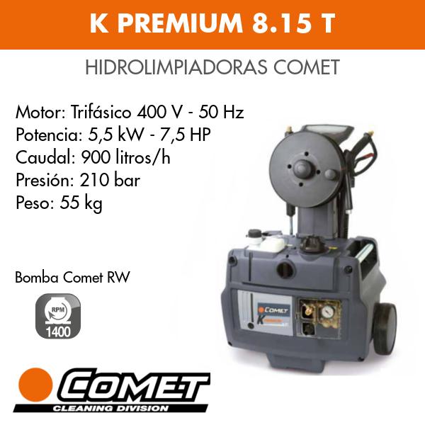 Hidrolimpiadoras Comet K PREMIUM 8.15 T - Intermaquinas