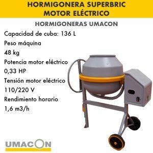 Hormigonera Superbric motor electrico