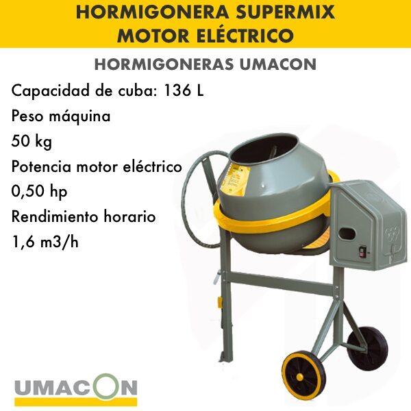 Hormigonera Supermix Umacon motor electrico