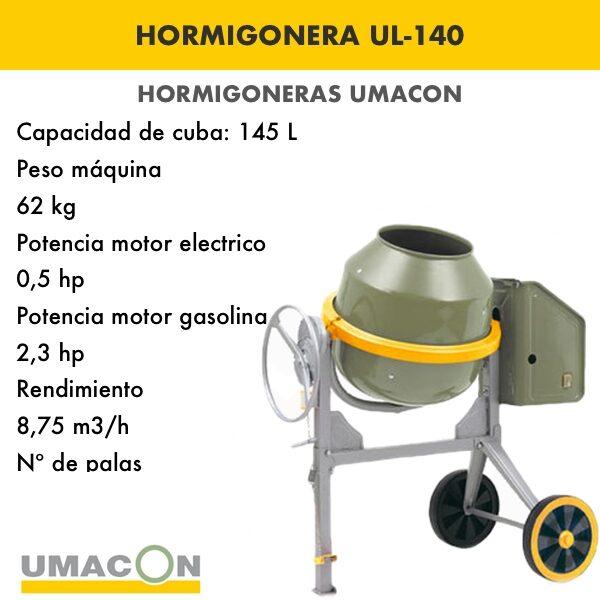 Hormigonera UL-140 Umacon