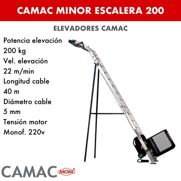 Montacargas Camac MINOR ESCALERA INCLINADA