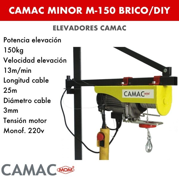 Montacargas Camac MINOR M-150 BRICO:DIY