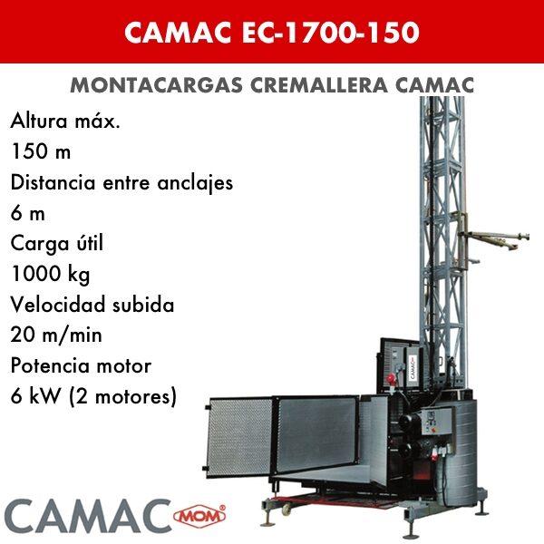 Montacargas a Cremallera CAMAC EC-1700-150