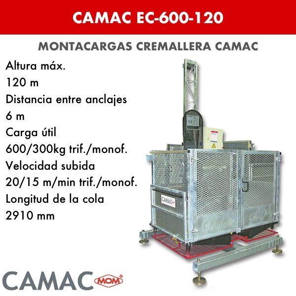 Montacargas a Cremallera CAMAC EC-600-120