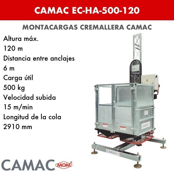 Montacargas a Cremallera CAMAC EC-HA-500-120