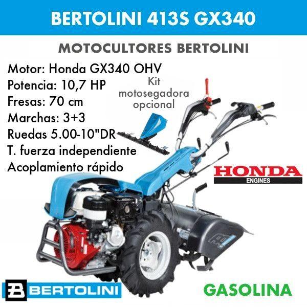 Motocultor Bertolini 413s GX340