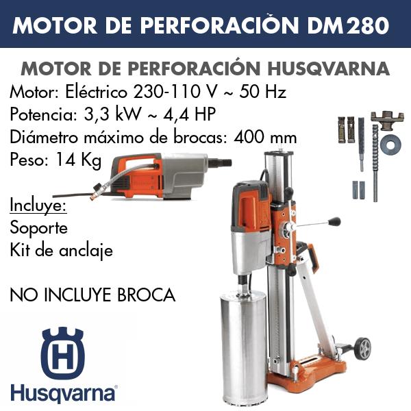 Motor de perforación DM 280 + DS 250 + Kit Anclaje