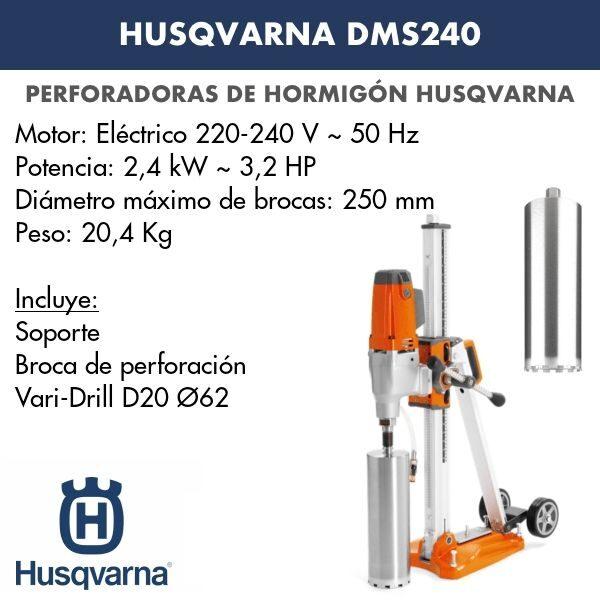 Perforadora de hormigón Husqvarna DMS 240