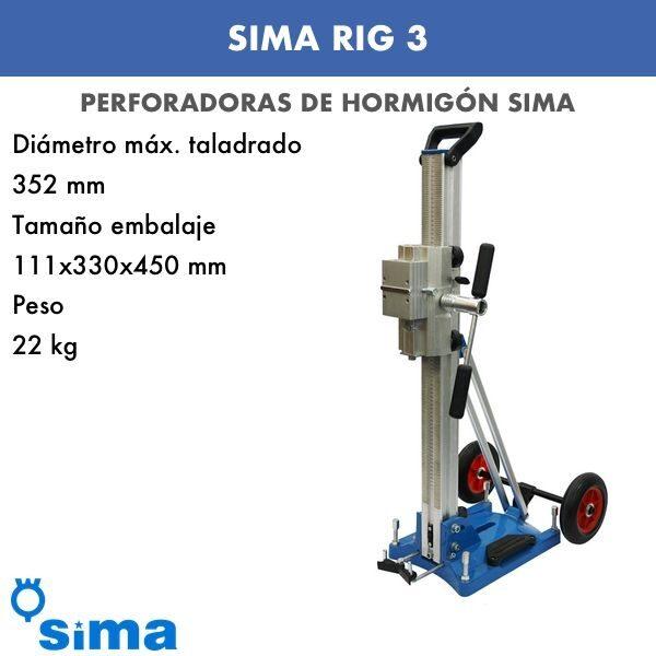 Perforadora de hormigón Sima RIG 3