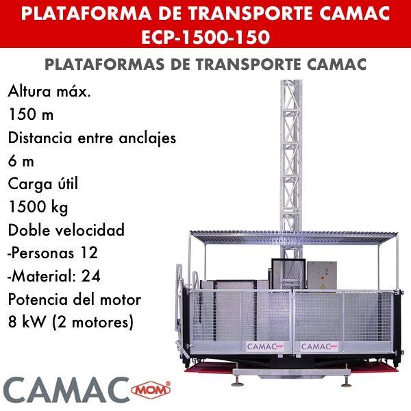 Plataformas de Transporte CAMAC ECP-1500-150