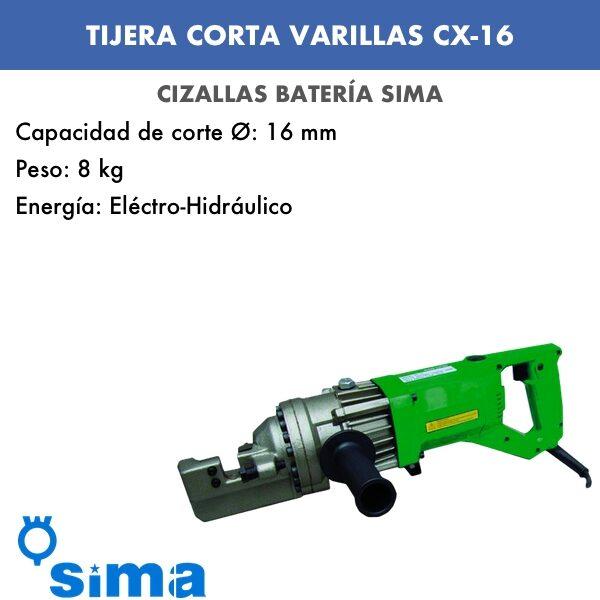 Tijeras corta varillas de Sima CX-16
