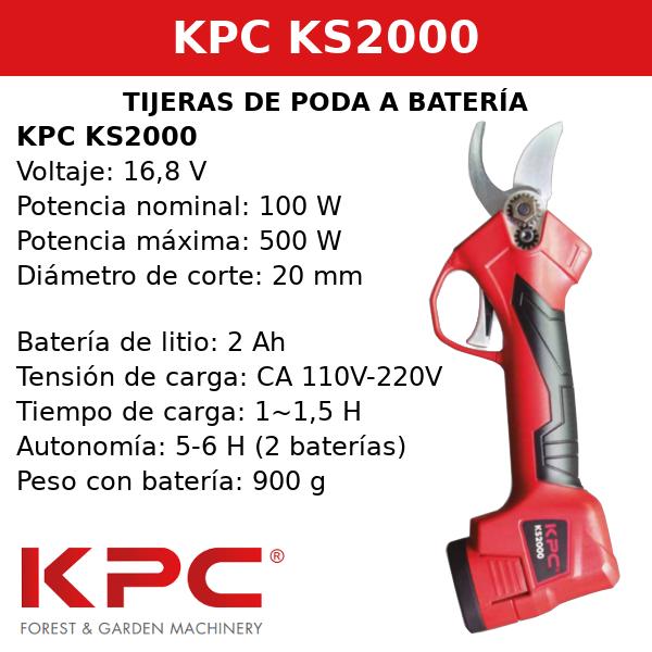 Tijeras de poda a batería sin cable KS2000