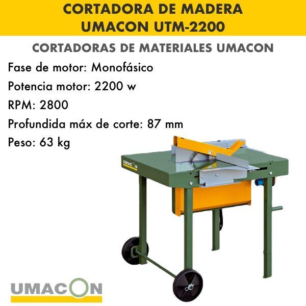 Tronzadora de madera UTM-2200