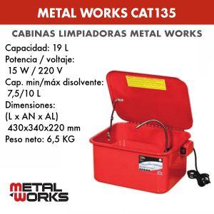 Cabina limpiadora Metal Works CAT135