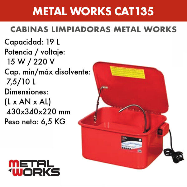 Cabina limpiadora Metal Works CAT135
