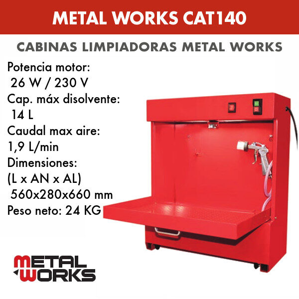 Cabina limpiadora Metal Works CAT140