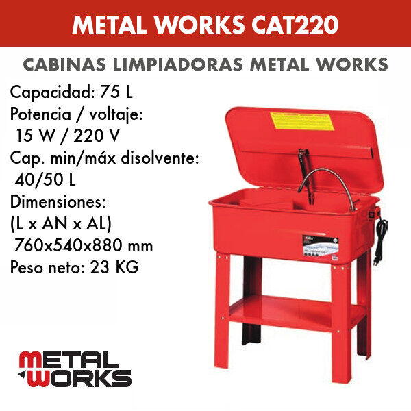 Cabina limpiadora Metal Works CAT220