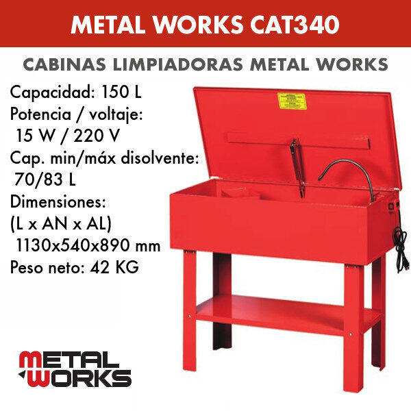 Cabina limpiadora Metal Works CAT340