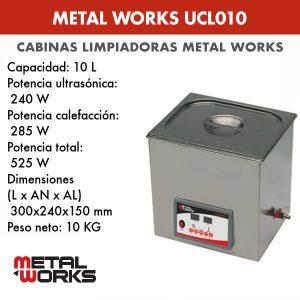Cabina limpiadora ultrasónica Metal Works UCL010