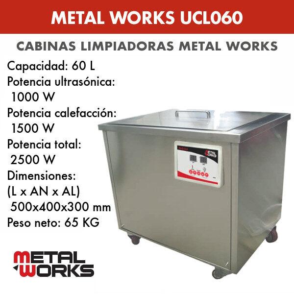 Cabina limpiadora ultrasónica Metal Works UCL060