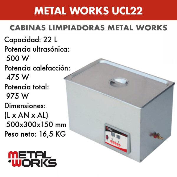 Cabina limpiadora ultrasónica Metal Works UCL22