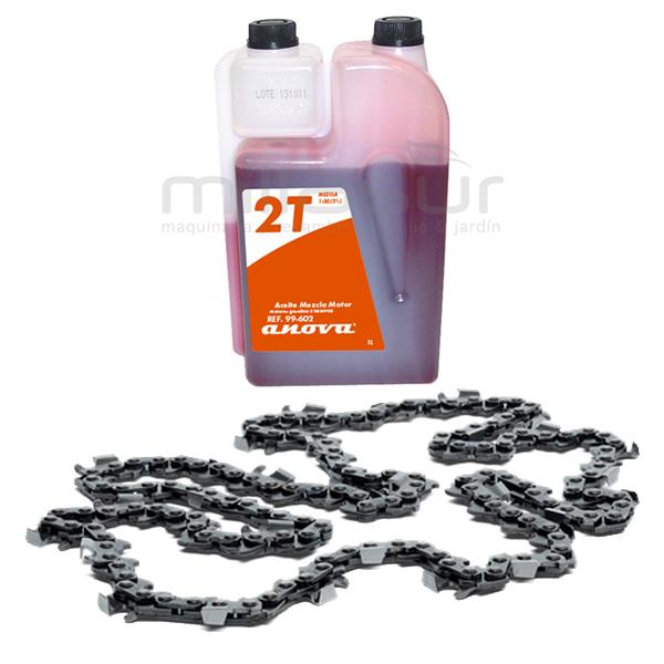 Cadena y aceite para motosierra