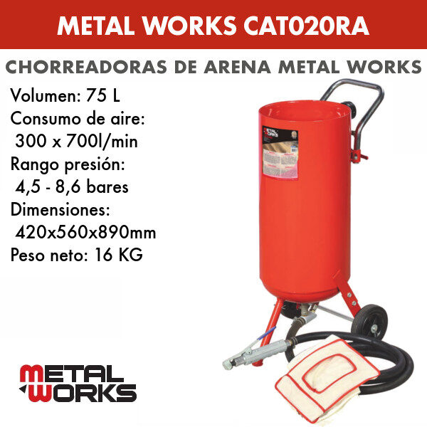 Chorreadora de arena Metal Works CAT020RA