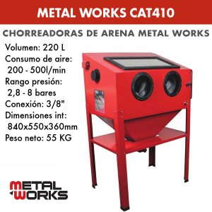 Chorreadora de arena metal work cat410