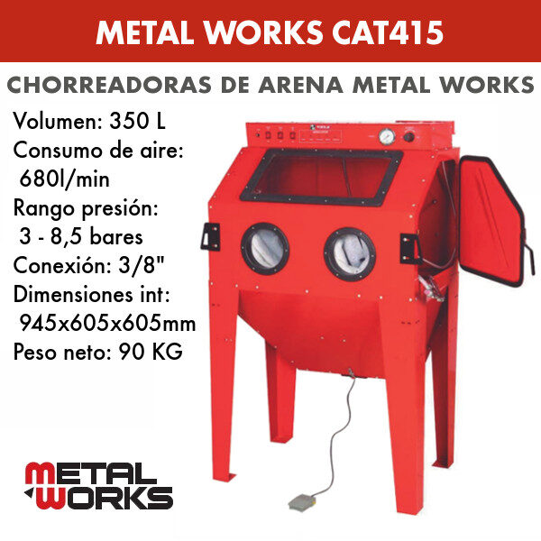 Chorreadora de arena Metal Works CAT415