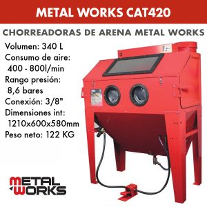 Chorreadora de arena Metal Works CAT420