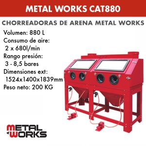Chorreadora de arena Metal Works CAT880