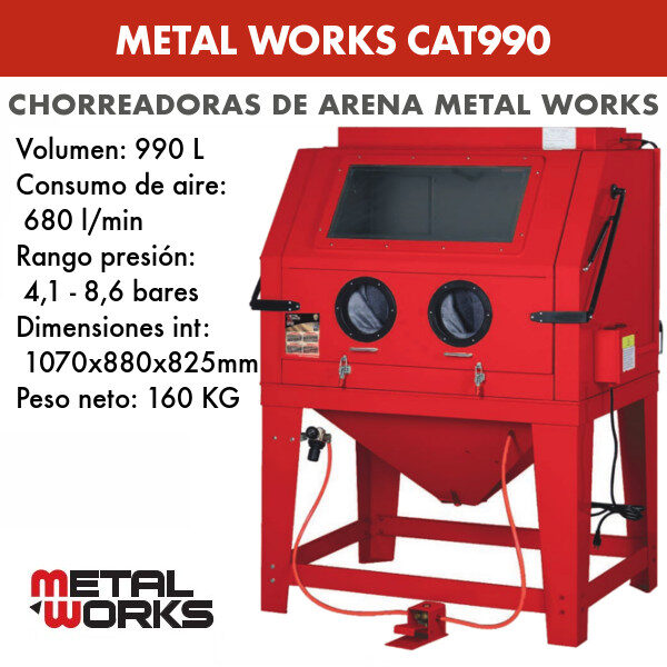 Chorreadora de arena Metal Works CAT990