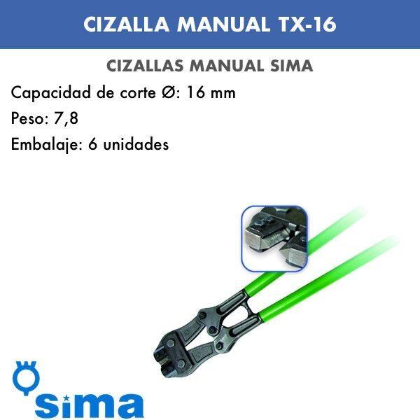 Cizalla Manual de Sima TX-16