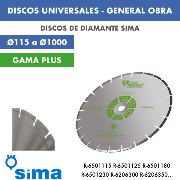 disco de diamante general obra. 115 a 1000