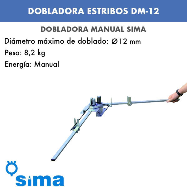 Dobladora manual estribos Sima DM-12