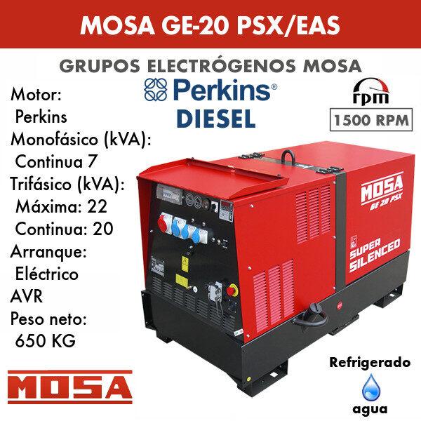 Grupo electrógeno Mosa GE-20 PSX/EAS