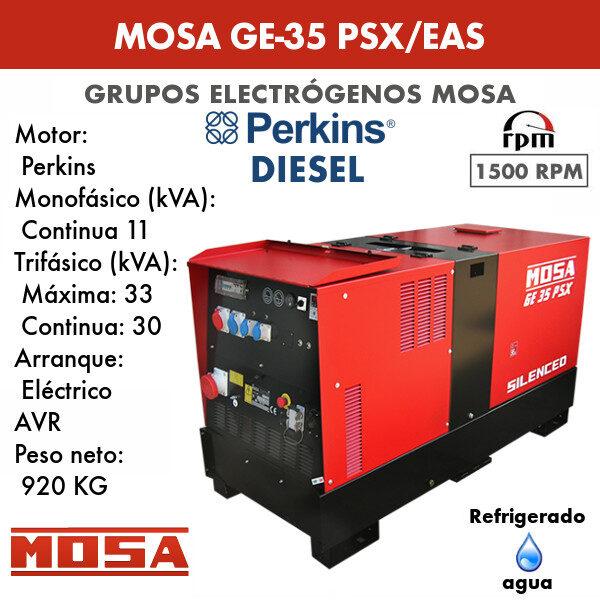 Grupo electrógeno Mosa GE-35 PSX/EAS