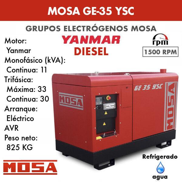Grupo electrógeno Mosa GE-35 YSC
