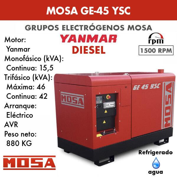 Grupo electrógeno Mosa GE 45 YSC