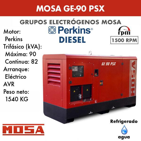 Grupo electrógeno Mosa GE-90 PSX
