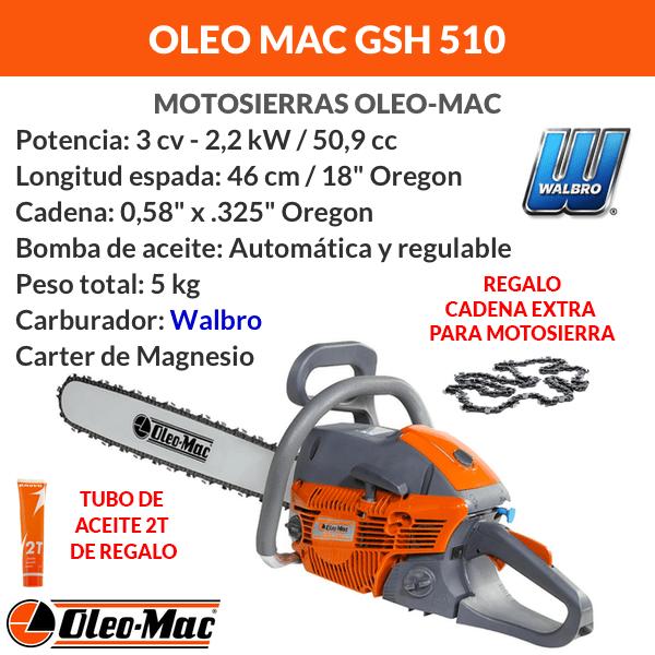 oleomac gsh510