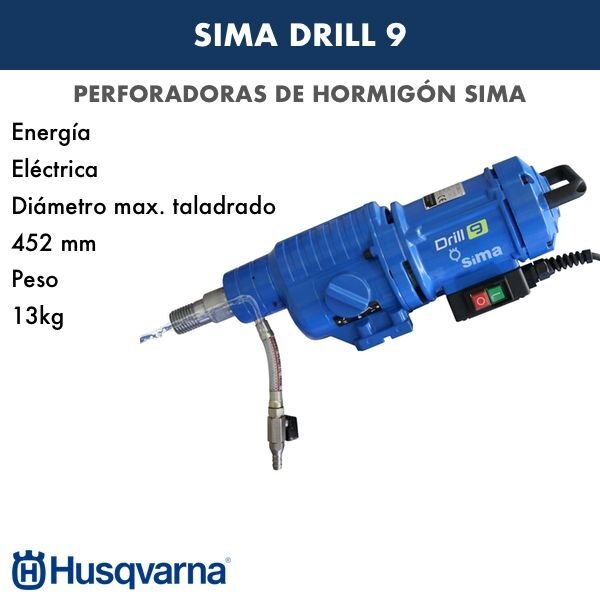 perforadora de hormigon sima drill 9