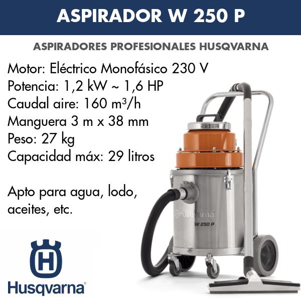 Aspirador Husqvarna W 250 P para lodos, aguas, aceites, etc