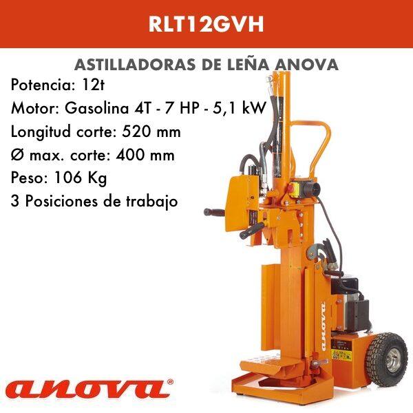 Astilladora de leña Anova RLT12GVH-1