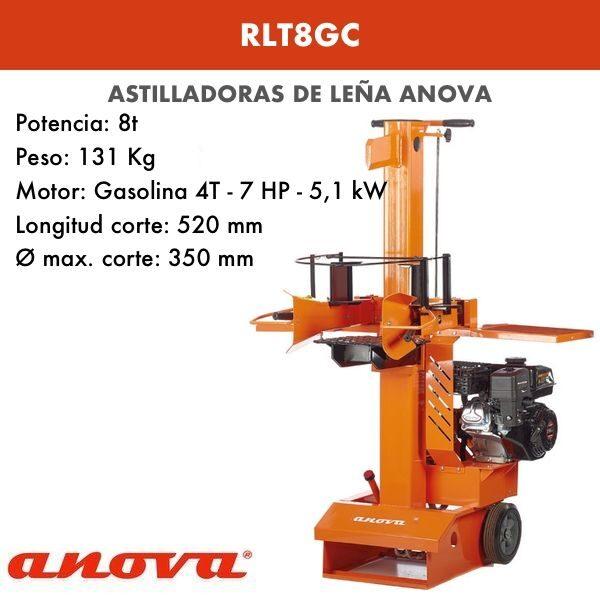 Astilladora de leña Anova RLT8GC