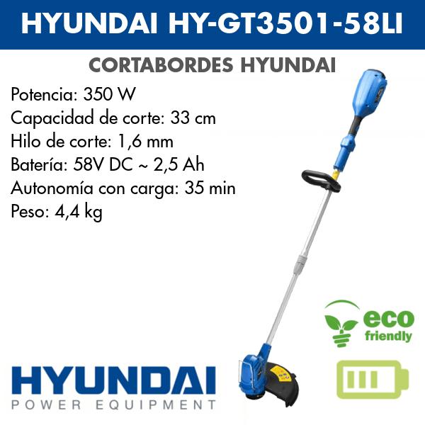 Cortabordes Hyundai HY-GT3501-58LI