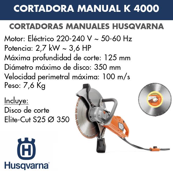 Cortadora K 4000 + Elite Cut S25 Ø 350