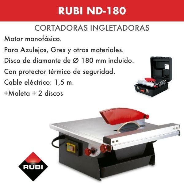 Cortadora Portatil Rubi ND-180
