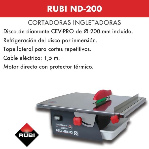 Cortadora Portatil Rubi ND-200