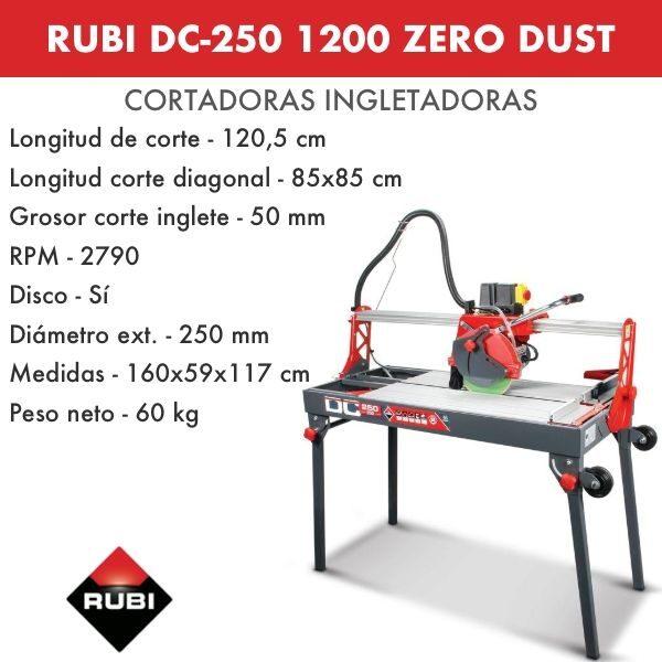Cortadora Rubi DC-250 1200 Zero Dust